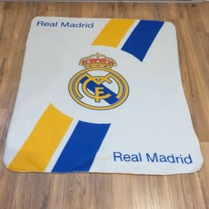 Real Madrid fleece throw blanket
